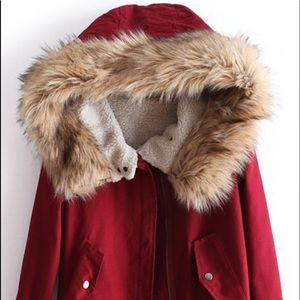 Faux Fur Hooded Jacket One Size - Fits S/M